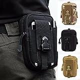 multifunzione Poly portautensile EDC Pouch Camo sacchetto militare di nylon Utility Tactical marsupio escursione di campeggio Pouch nero