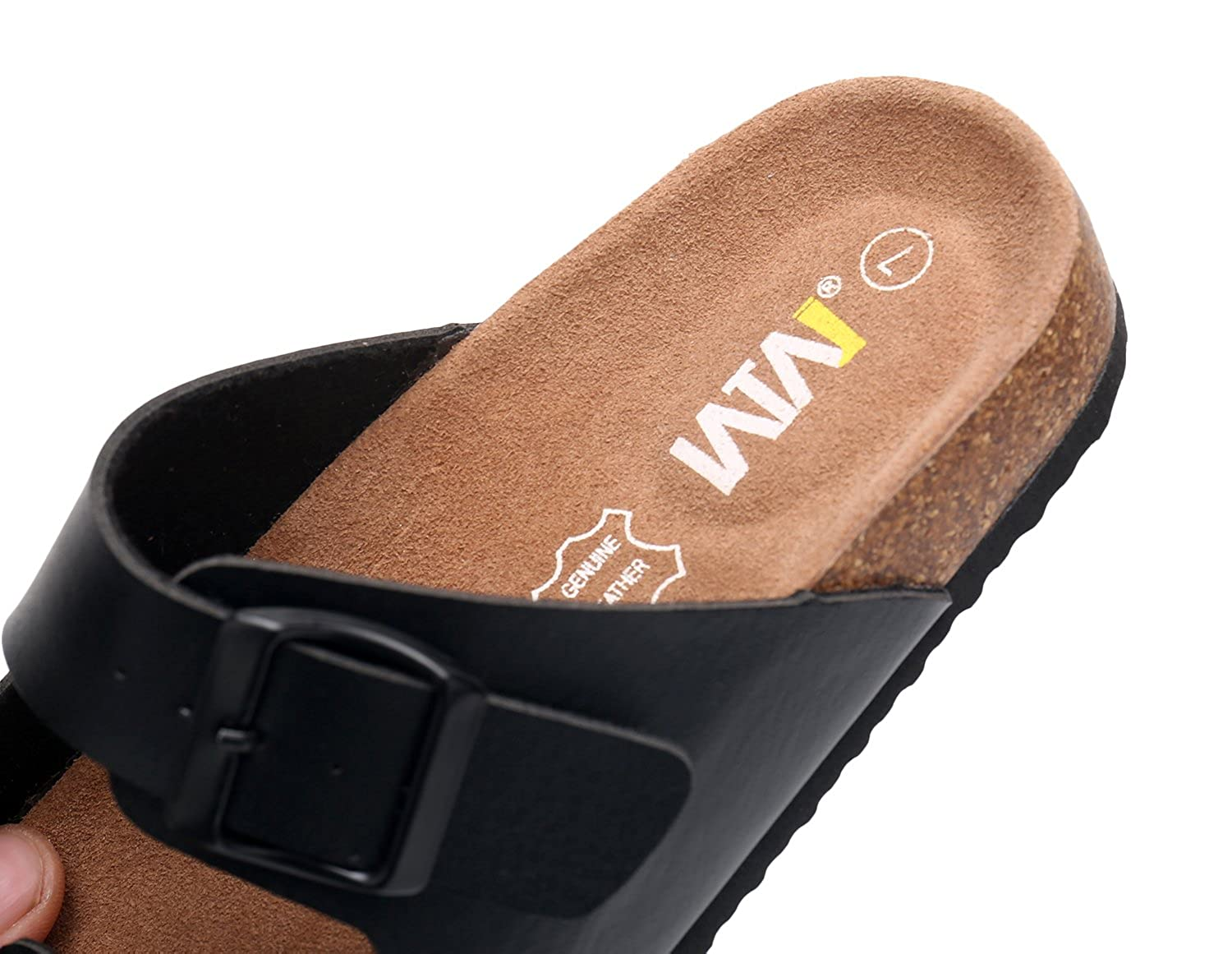 Wtw Womens Arizona Flat 2 Strap Cork Sandals Soft Tendencies Footbed Brown 40 Suede Slides