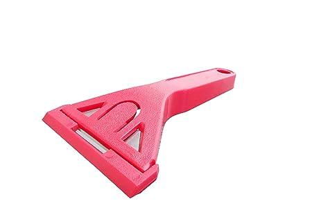 Rasqueta para ventanas de plástico, color rojo: Amazon.es: Hogar