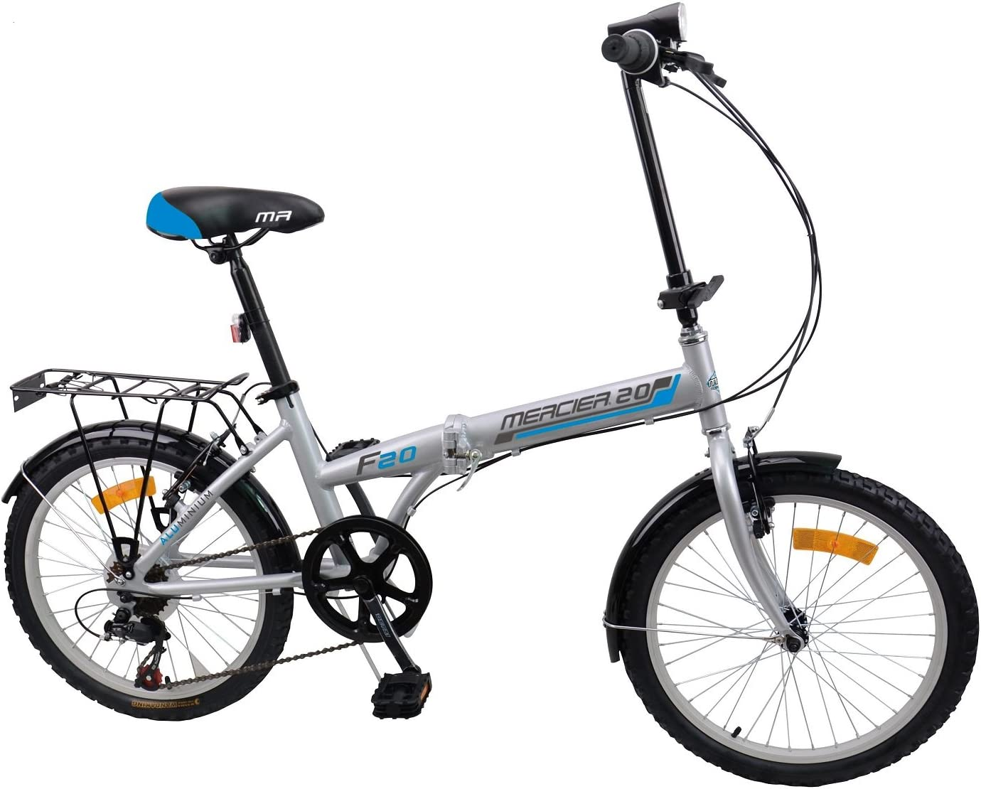 Mercier Bicicleta plegable de aluminio: Amazon.es: Deportes y aire ...