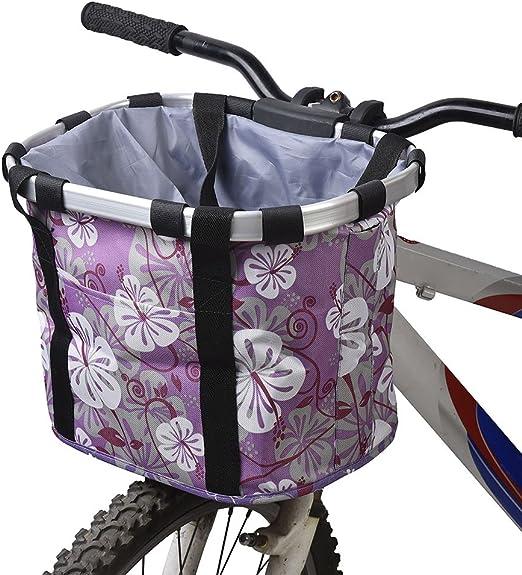 Docooler Cesta de Lona Frontal Desmontable de Bicicleta Marco de ...