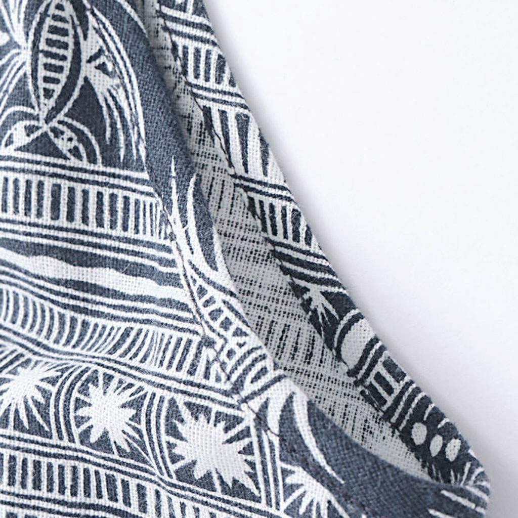 Huazi2 Women Vintage Casual Loose Print Cotton Tunic Plus Size Dress 5XL
