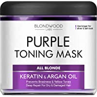 Purple Hair Mask with Retinol & Keratin - Made in USA - for Blonde, Platinum & Silver...