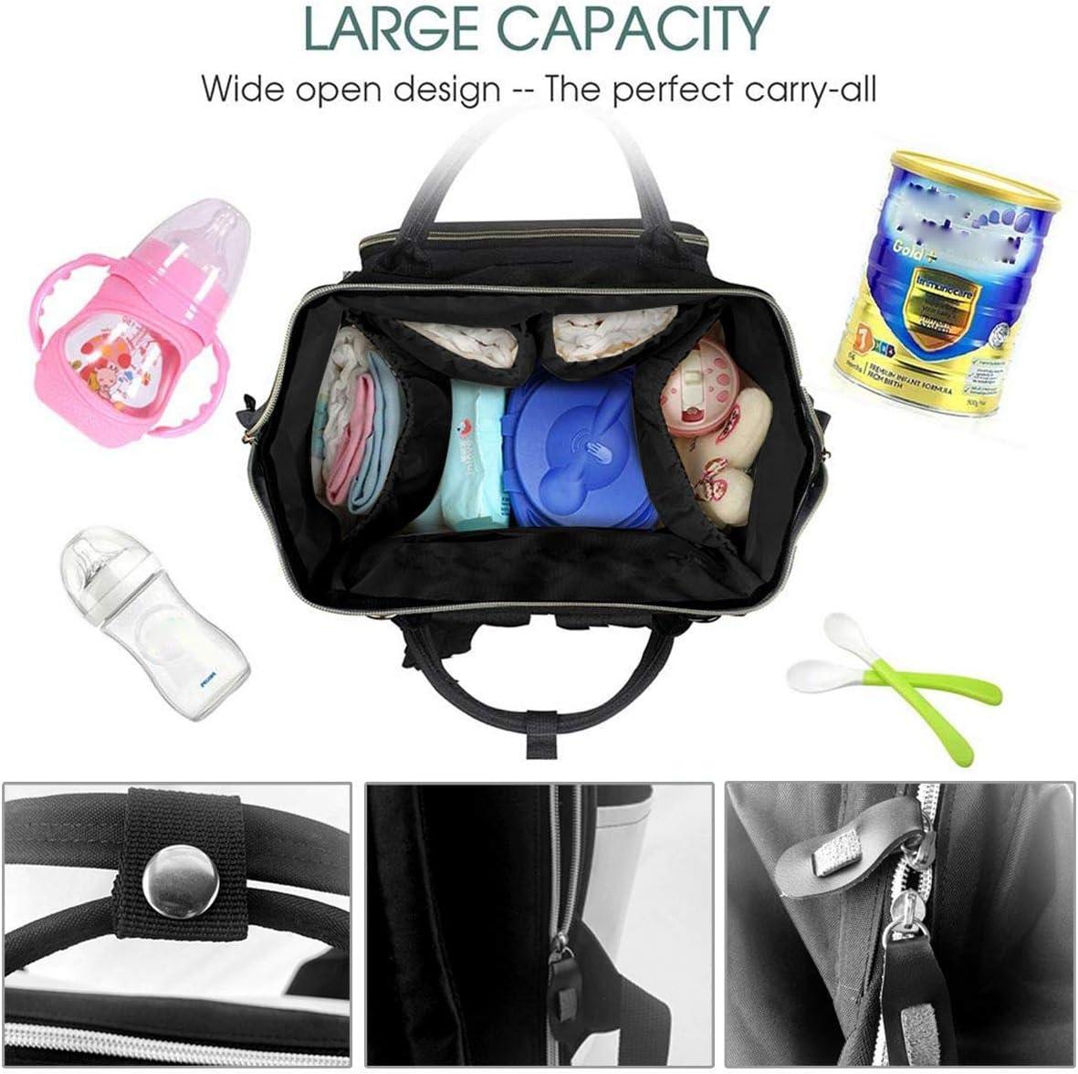 Mi-n-n-ie Multifunction Waterproof Travel Mochila Maternity Baby Nappy Changing Bags NHJYU Bolsa de pa/ñales Mochila