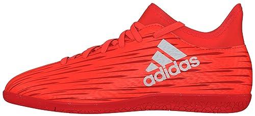 adidas X 16.4 in, Scarpe da Calcio Bambino, Arancione (Solar Red/Silver Metallic/Hi-RES Red), 36 2/3 EU