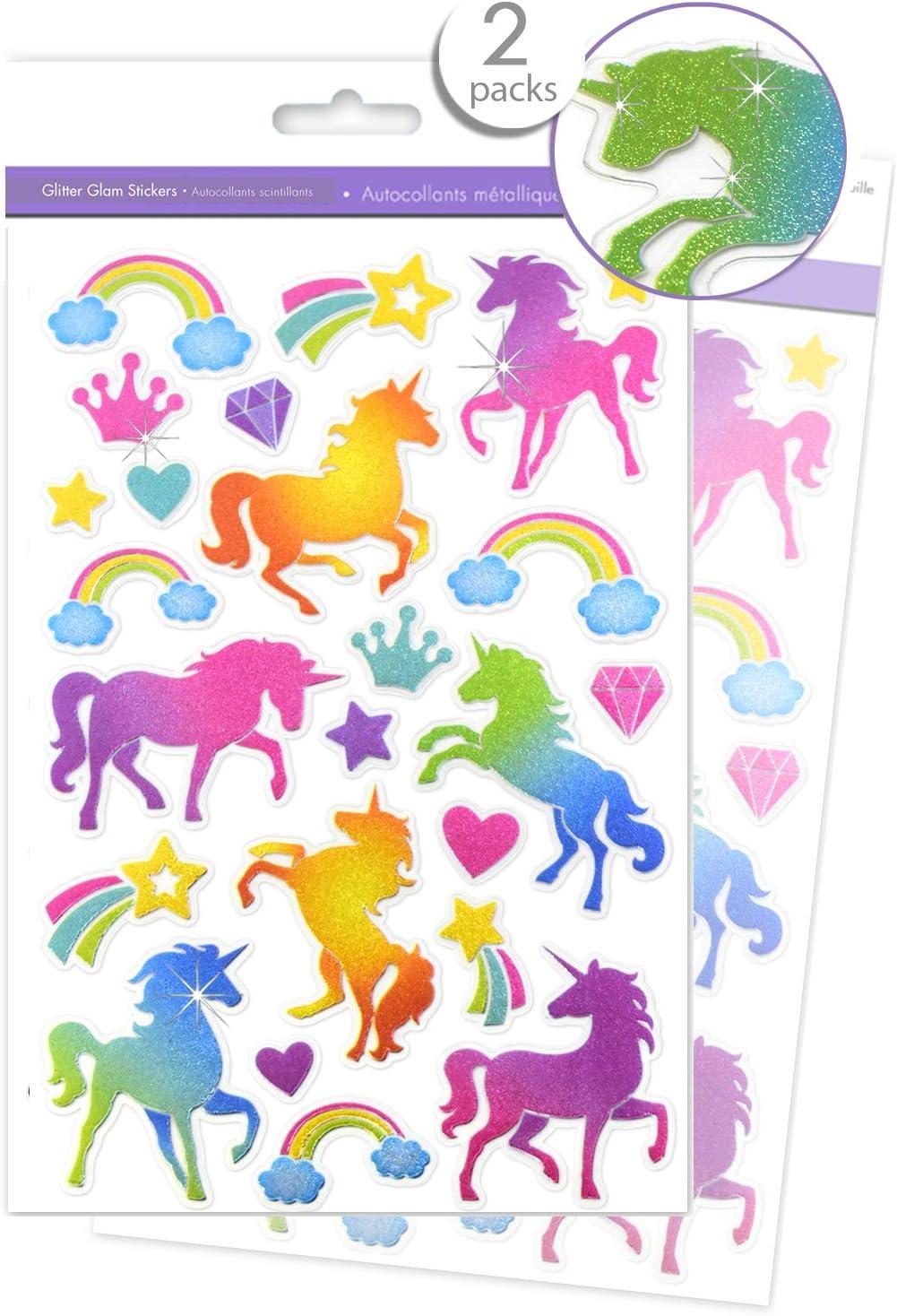 children/'s stickers Unicorn Sticker sheet unicorns girls stickers