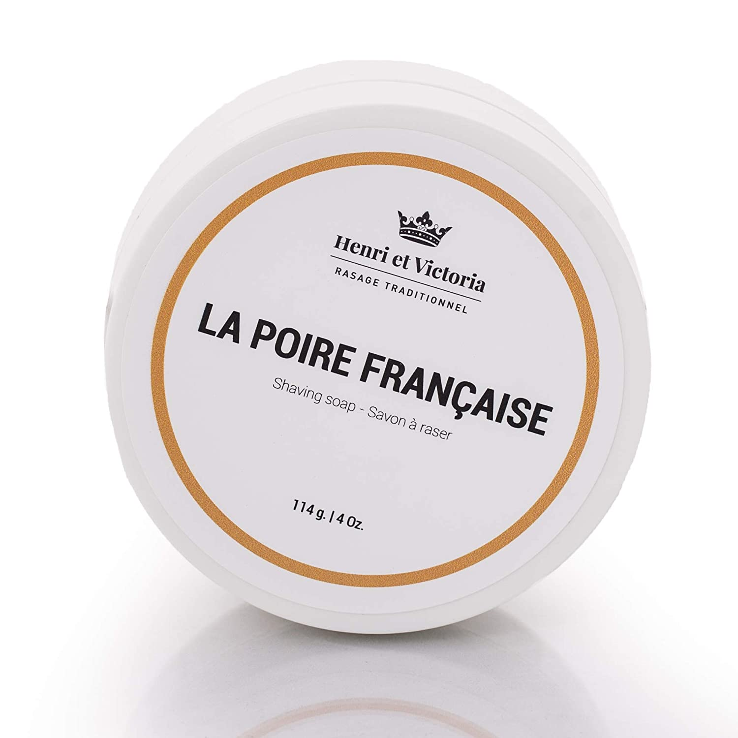 Henri et Victoria Shaving Soap For Everyone | La Poire Francaise Shaving Cream Fragrance | Canadian Made by Skilled Artisan |Moisturizing, Ultra Glide, Cushioning, Easy Lather, Prevent Razor Burn and Dry Skin | 114 g (4 oz) Henri et Victoria inc