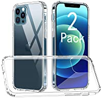 Deals on 2-Pack CTYBB Compatible with iPhone 12 Case 6.1 inch, Clear