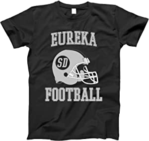 4INK Vintage Football City Eureka Shirt for State South Dakota with SD on Retro Helmet Style