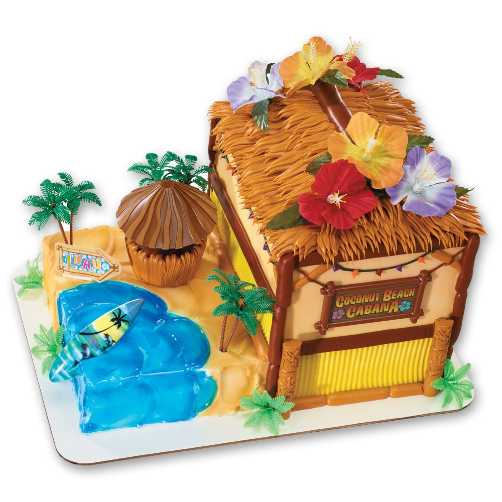 Coconut Beach Cabana Signature DecoSet Cake Decoration