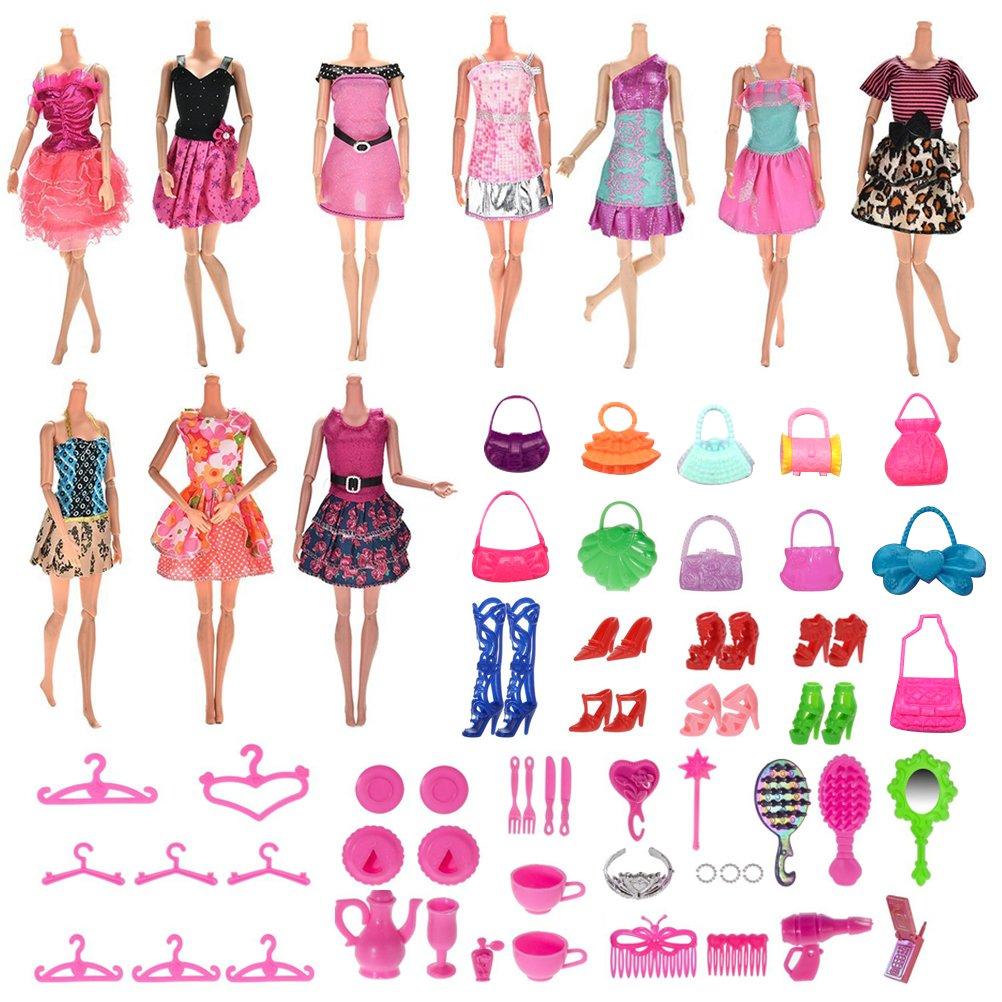 BESTIM INCUK 70 Pack Handgefertigte Puppe Kleider Kleider Zubehör ...