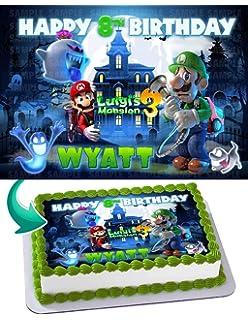 Super Mario Bros Luigi Joshi Mario Odyssey Edible Cake Topper