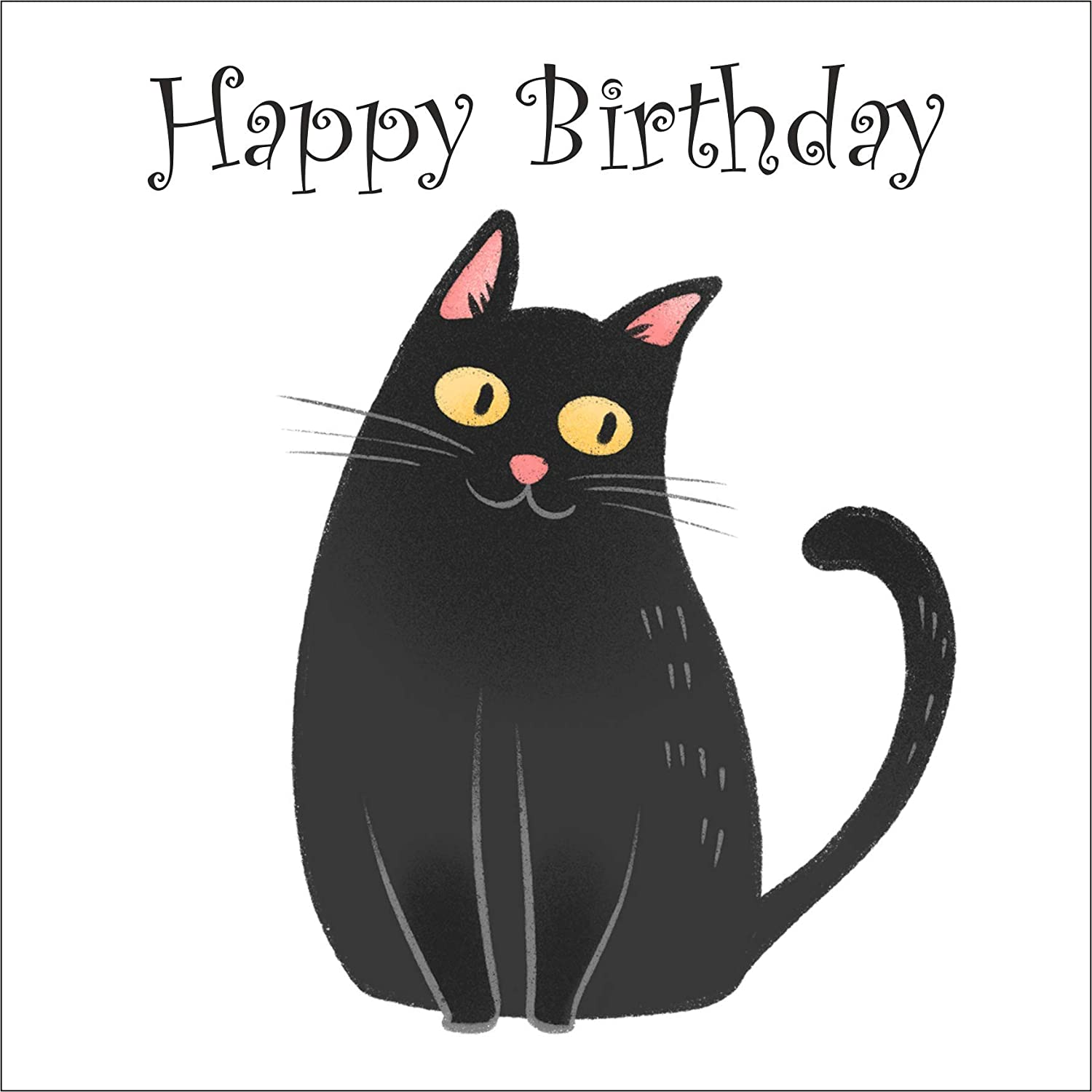 Cartoon Black Cat Birthday Card Amazon Co Uk Handmade Well you're in luck, because here. cartoon black cat birthday card
