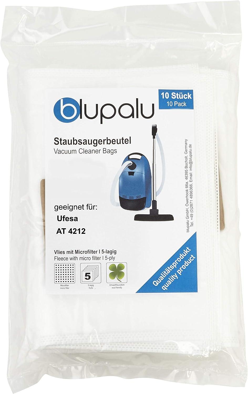 blupalu I Bolsas para aspiradora aspiradora Ufesa AT 4212 I 10 Pieza I con Fein Filtro de Polvo: Amazon.es: Hogar