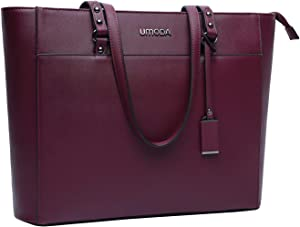 UMODA Laptop Bag for Women,Multi Pocket Work Bag,15.6 Laptop Bag for Business,Dark Purple