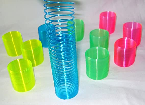 Mini Party Bag Filler Slinky Light up Puffer Surprise Favour Loot Kids Toys