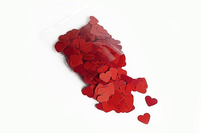 Konfetti Herzform Konfetti 18 G Rote Farbe Handgemacht