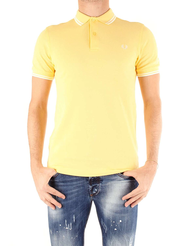 Fred Perry メンズ ポロシャツ ツインチップ B078XHLRM8 Medium|1964 Yellow/Snow White 1964 Yellow/Snow White Medium