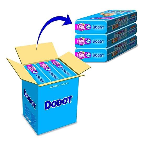 Dodot - Pañales talla 4 (9-15 kg), 3 Paquetesx 62: 186 unidades: Amazon.es: Belleza