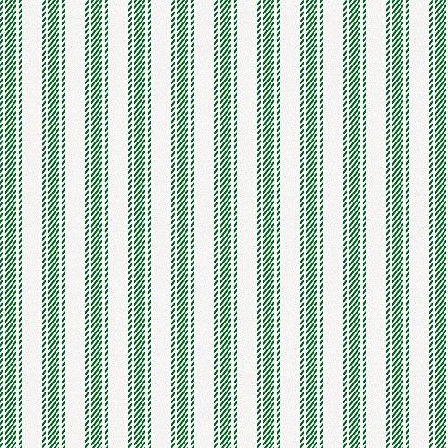 Carousel Designs Green Ticking Stripe Fabric by The Yard - Organic 100% Cotton ()