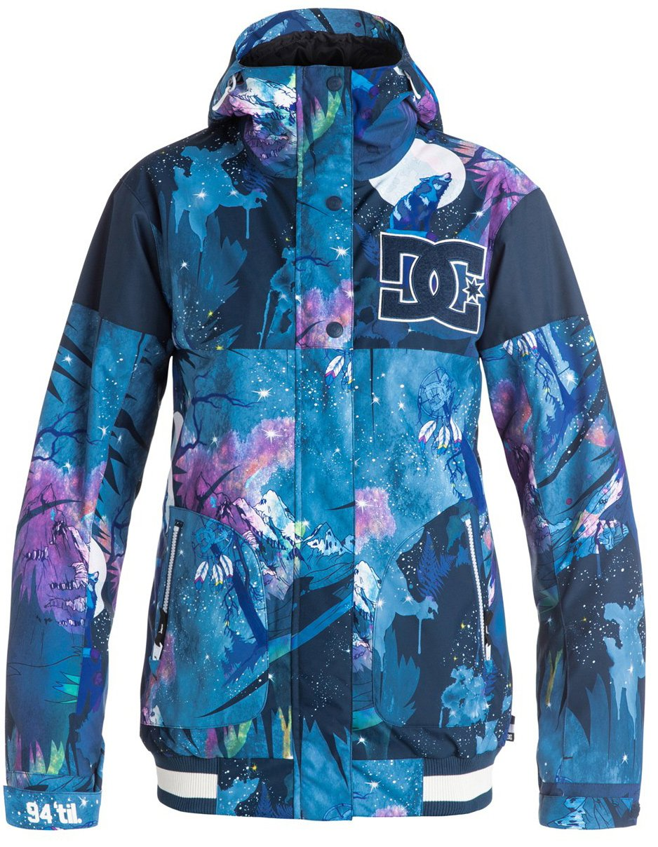 DC Junior's Dcla Classic Varsity Regular Fit Snow Jacket, Howling Moon, L