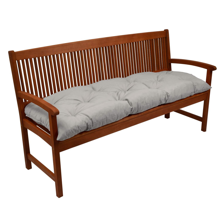 Beautissu Bench Pad Flair BK Comfortable Cushion 100 x 50 x 10 cm Swing or 2 Seater Garden Bench Cushion Blue