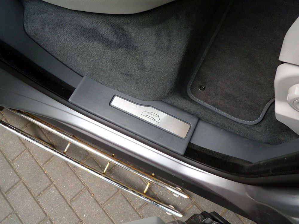 De Acero para 2011-2018 Evoque 2 Piezas para Veh/ículo de 5 Puertas Molduras Protecci/ón Inox Metal Cepillado Interior Personalizados Hechos a Medida Tuning Trasero Umbrales