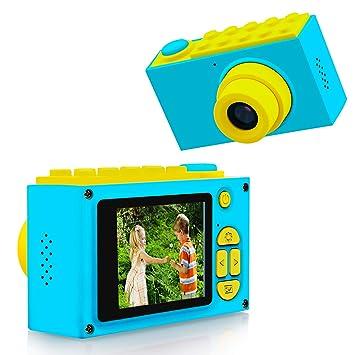 Kriogor Mini cámara para niños, 2 Pulgada Pantalla de Juguete Digital Impermeable cámara niños para niñas cumpleaños (Azul): Amazon.es: Juguetes y juegos