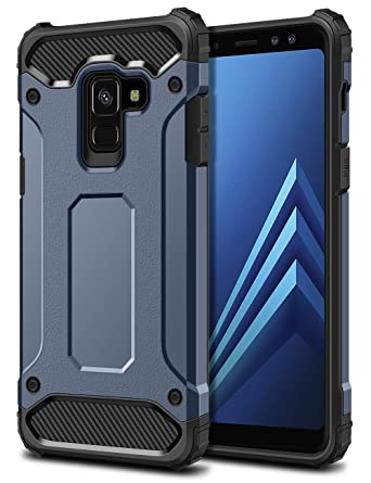 huge discount c2741 269b1 SAMONPOW Armor Case for Samsung Galaxy A8(2018),Dual Layer Rugged Galaxy A8  (2018) Case Heavy Duty Protection Hard PC Back Soft TPU Shockproof Cover ...