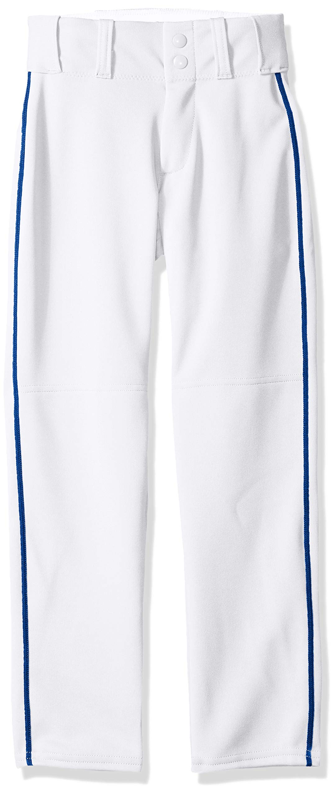 Alleson Ahtletic Boys Youth Baseball Pants with Braid, White/Royal, X-Large by Alleson Athletic
