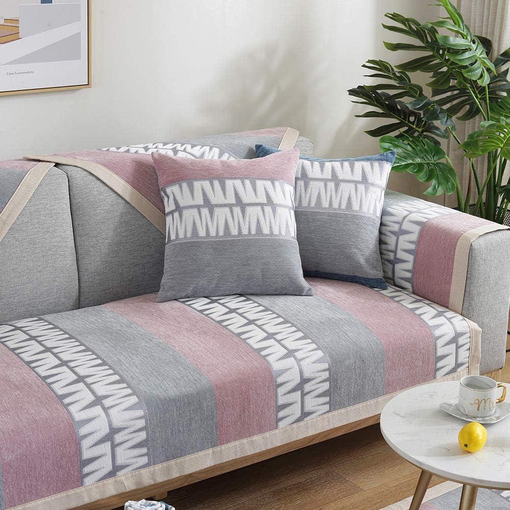 Hybad Fundas de Sofa Anti Gatos,Cojín de sofá de Cuero de Sala de Estar de Primavera y otoño,Funda de sofá Delgada de Tela Antideslizante,cojín de Noche,cojín de Ventana Mirador-F_90 * 210 cm: