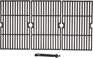 16-1/4-inch Matte Cast-Iron Cooking Grate Replacement for Backyard BY12-084-029-98, Dyna-Glo DGF510SBP, DGF510SSP, DGF510SSP-D, Uniflame GBC1059WB, Better Homes & Gardens Gas Grill Models, 3-Pack