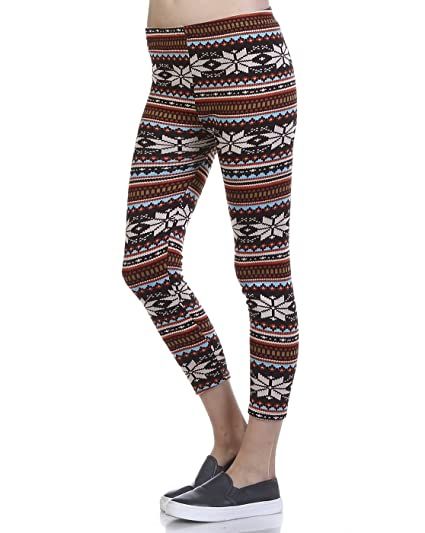 f46d269eb1020 Stay Warm in Style Fleece Lined Winter Printed Leggings - 4 Styles ...