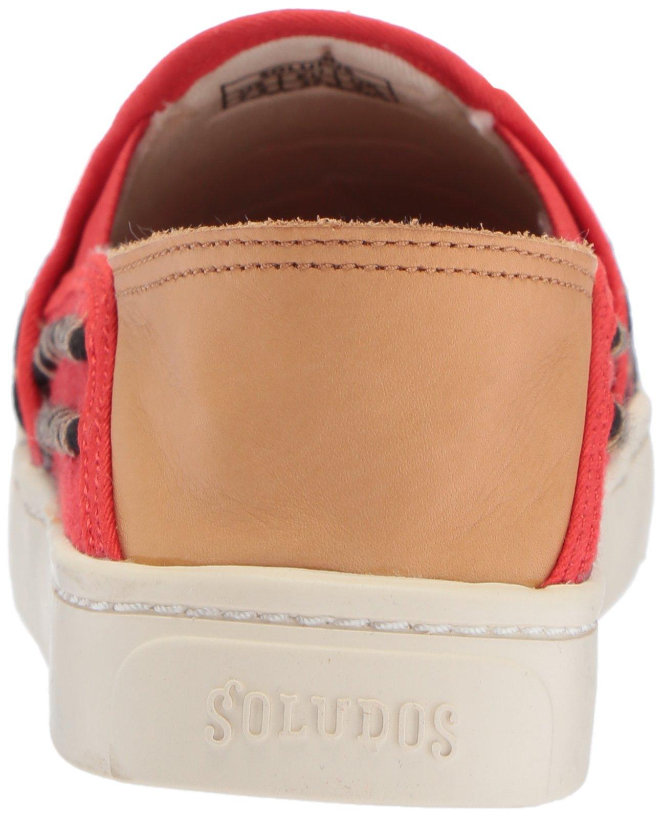 Soludos Women's Tassel Slip Sneaker, Red/Beige, 8 B US by Soludos (Image #2)