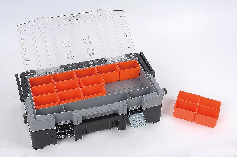 DK-320300 15/cajas extra/íble Tactix/ aluminio Mango /Malet/ín de herramientas con organizador de transporte//Aufsatz mehrteilig