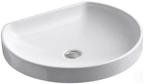 kohler k23320 watercove wading pool bathroom sink white