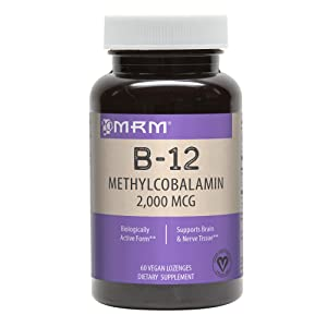 MRM Vitamin B-12 Methylcobalamin Sublingual Tablets, 2000 mcg., 60 Lozenges