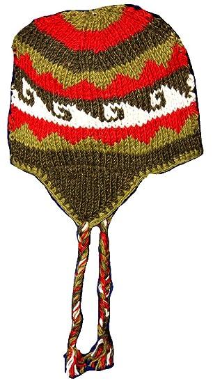 5c7b3737c Hand Knit Unisex Wool Beanie Hat Ear Flap Beanie Heavy Premium Cold ...