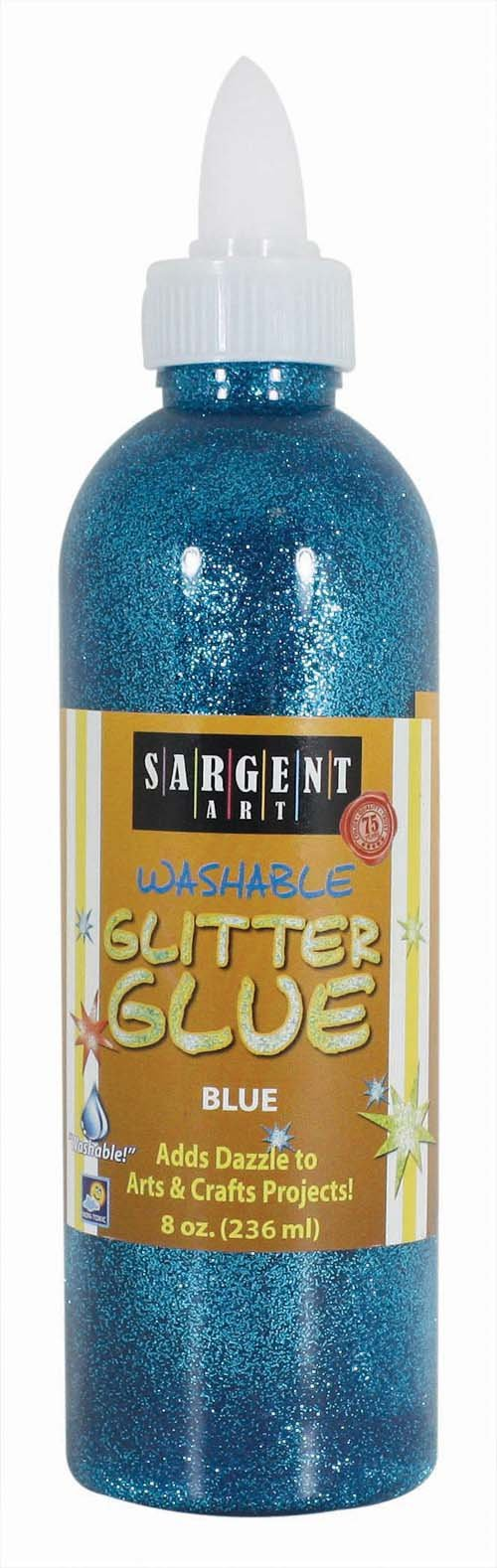 Sargent Art 22-1950 8-Ounce Glitter Glue, Blue