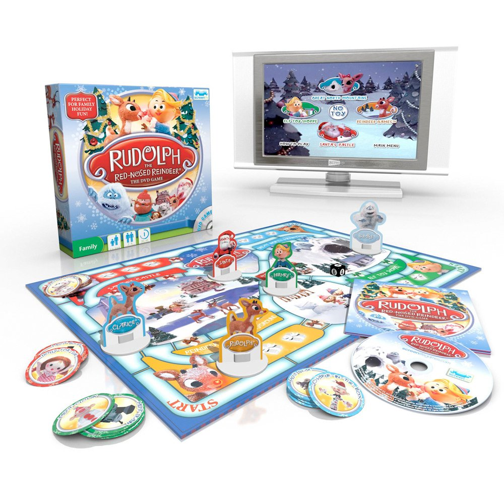 Rudolph The Red Nosed Reindeer Family Christmas DVD Game: Amazon.co.uk:  Toys & Games
