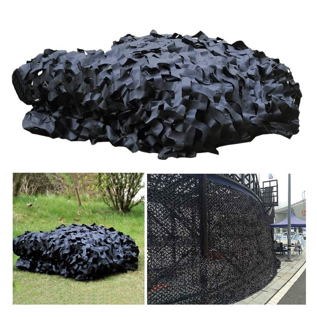 ブラックカモフラージュネットカモフラージュネット、シェードネット5 * 6m、サンメッシュ、カモフラージュオーニング、日焼け止めネット2 * 3m、アイソレーションネット、プライバシーガーデンの保護に適しており、複数のサイズのキャンプサンプロテクションネット (Size : 6*8M(19.7*26.2ft))  6*8M(19.7*26.2ft)