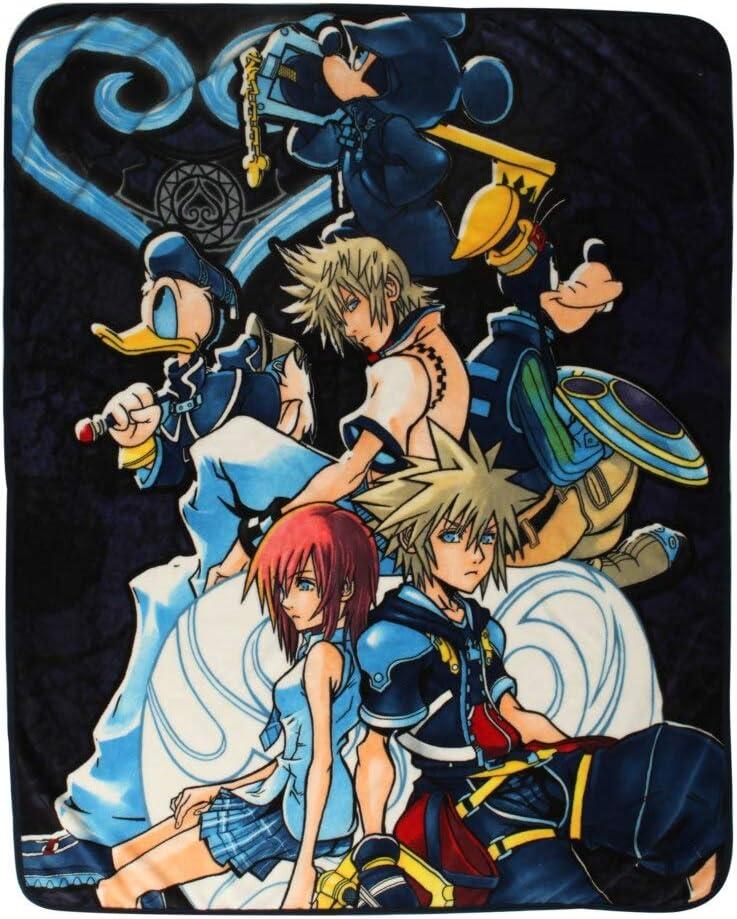 Disney Kingdom Hearts Characters Throw Blanket