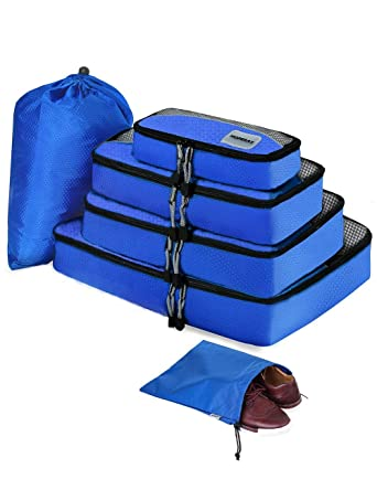 c0a85d3fed HOPERAY Packing Cubes Travel Organizer Mesh Bags - 6 pcs Lightweight Set  Travel Gear Bag Accessories for Women Men Kids Carry-on Luggage Suitcase and  ...