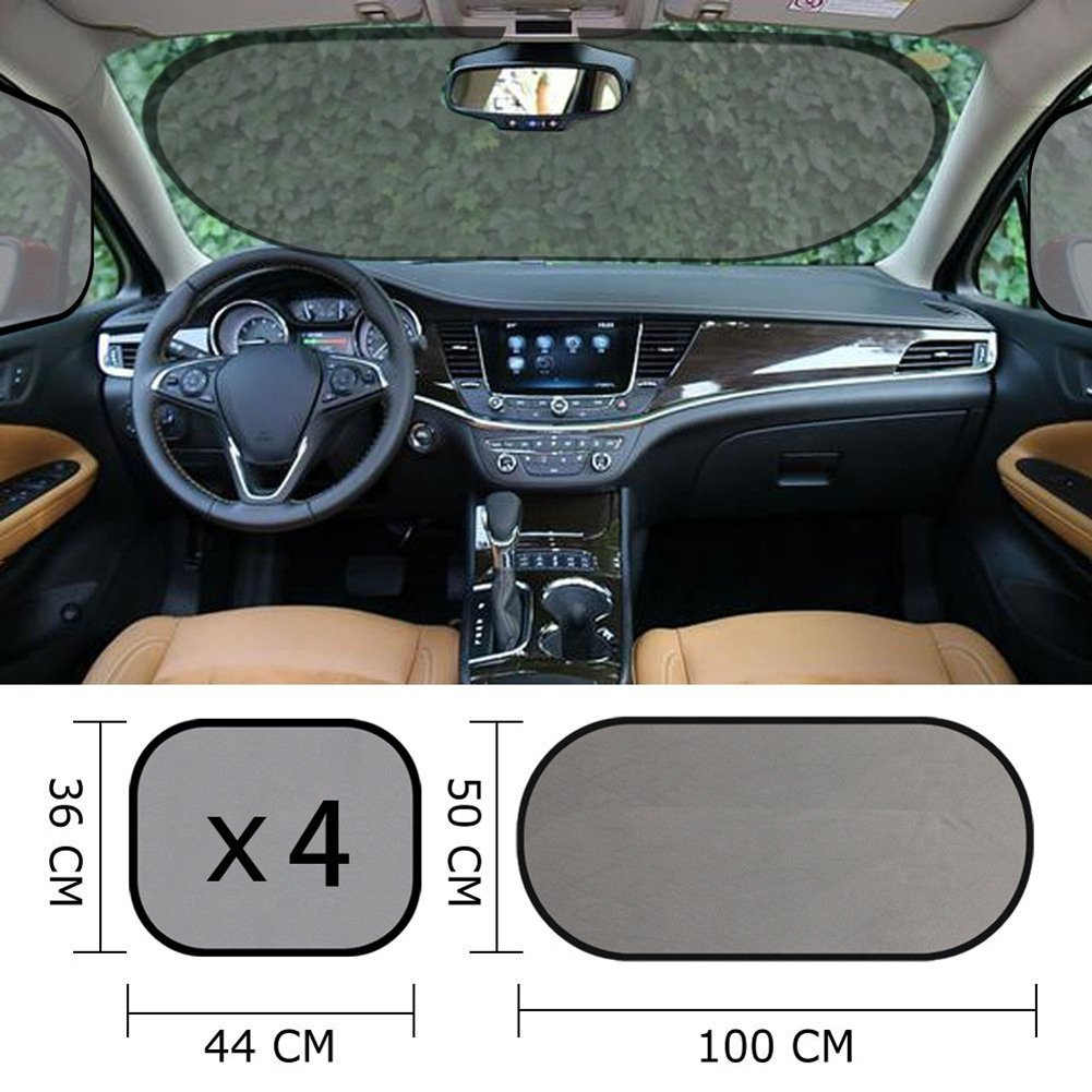 Car Sunshade Protector Car Window Shade for Side and Rear Window with Suction Cups Onewell Car Sun Shade 5 PCS Protect Kids and Pets from Sun Glare and Heat