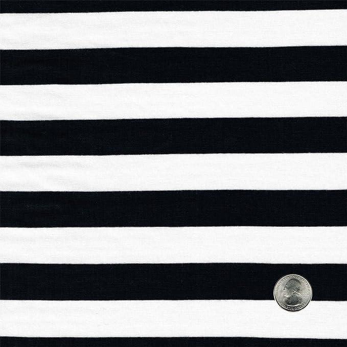 Red /& Black Stripes 1 Inch Vertical Stripe Print Stretch Spandex Fabric UK Sewing Apparel Punk