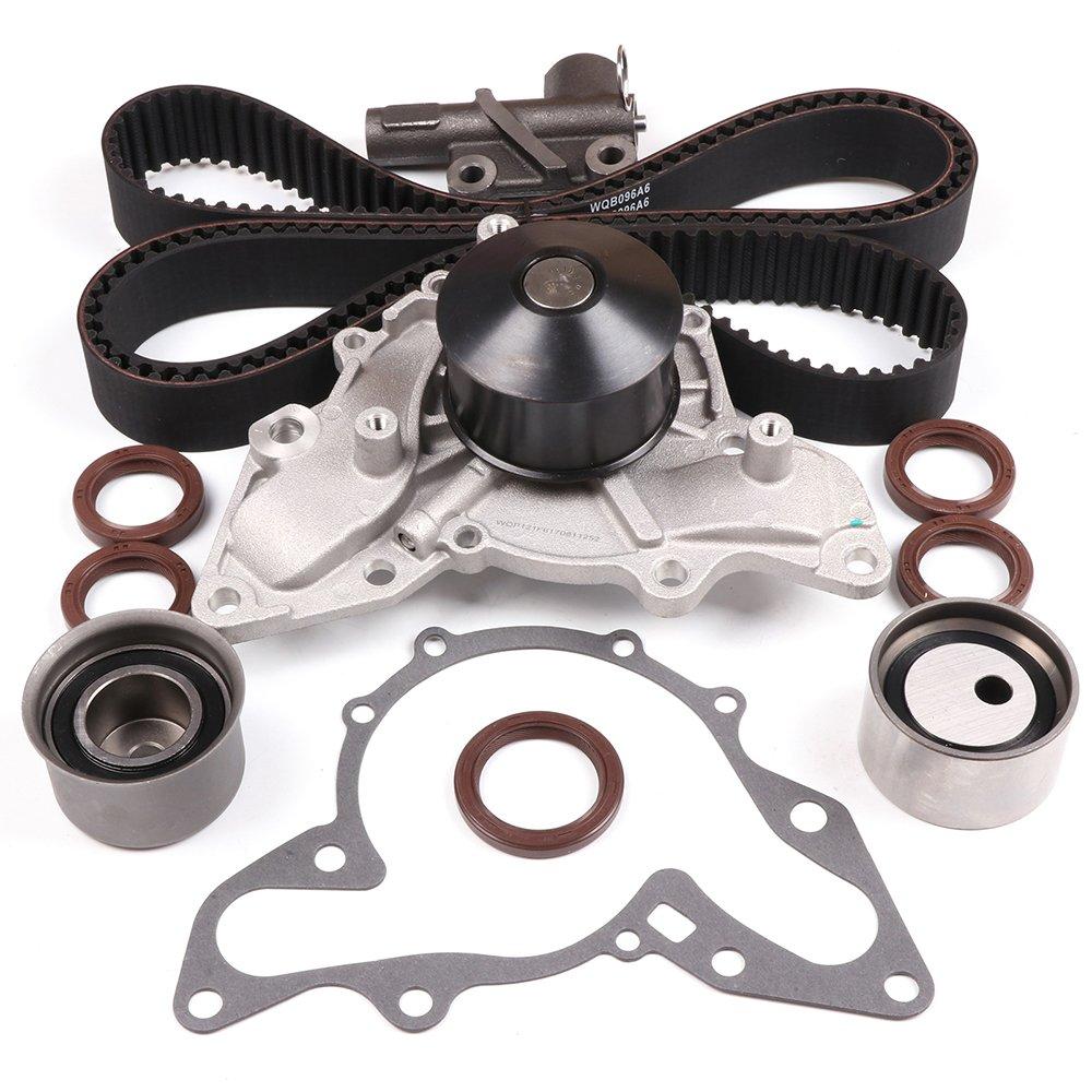 ECCPP Timing Belt W/Water Pump Kit Tensioner for 2003-2006 Kia Sorento 3.5L V6 24V G6CU 110311-5211-1006062