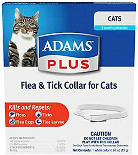 Amazon.com: Adams Plus Flea & Tick Collar para gatos, 6 ...