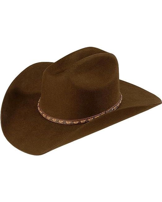 20cde83645262 Justin de los hombres Plains 2 x lana sombrero vaquero café 7 5 8 ...