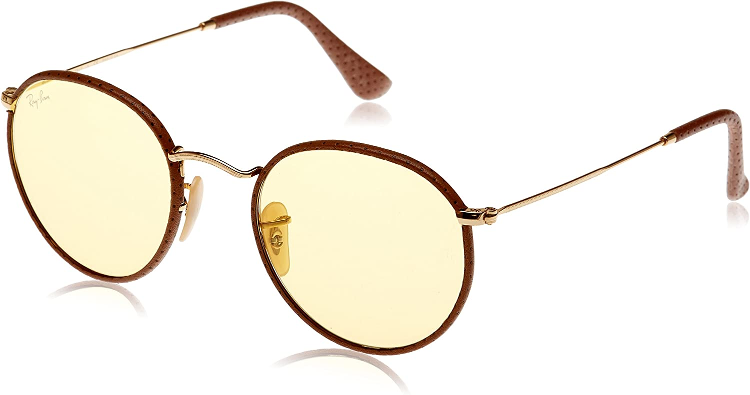 RAY-BAN 3475q Gafas de sol, Leather Light Brown, 50 para Hombre