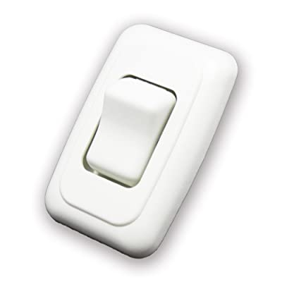 American Technology Components Single SPST On-Off Switch with Bezel, 12-Volt, for RV, Trailer, Camper (White): Automotive [5Bkhe1009464]